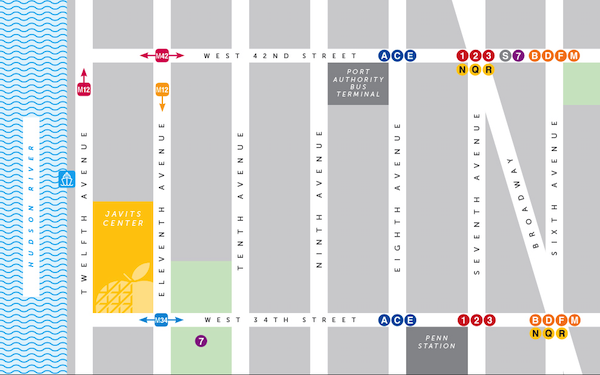 Map Overview of The Jacob Javits Center